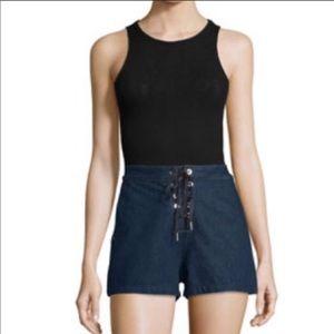 Rag & Bone High Waisted Resin Shorts